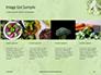 Broccoli on Green Background Presentation slide 16