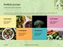 Broccoli on Green Background Presentation slide 17