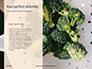 Broccoli on Green Background Presentation slide 9