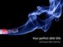 Burning Cigarette with Smoke on Black Background Presentation slide 1