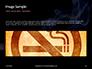 Burning Cigarette with Smoke on Black Background Presentation slide 10