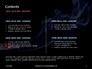Burning Cigarette with Smoke on Black Background Presentation slide 2