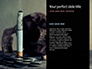 Burning Cigarette with Smoke on Black Background Presentation slide 9