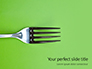Silver Fork on Green Background Presentation slide 1