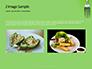 Silver Fork on Green Background Presentation slide 11
