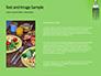 Silver Fork on Green Background Presentation slide 15