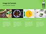 Silver Fork on Green Background Presentation slide 16