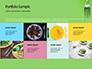 Silver Fork on Green Background Presentation slide 17