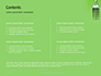 Silver Fork on Green Background Presentation slide 2