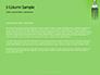 Silver Fork on Green Background Presentation slide 4