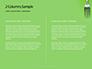 Silver Fork on Green Background Presentation slide 5