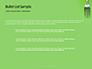 Silver Fork on Green Background Presentation slide 7