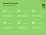 Silver Fork on Green Background Presentation slide 8