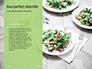 Silver Fork on Green Background Presentation slide 9
