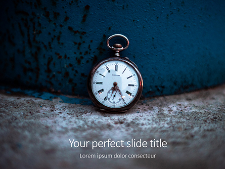 Old Pocket Watch Presentation Presentation Template, Master Slide