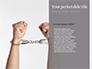Sliver Handcuffs Lying on Top of Fingerprint Sheets Presentation slide 9
