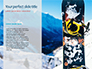 Snowboard with Ski Goggles and Smartphones on It Presentation slide 9