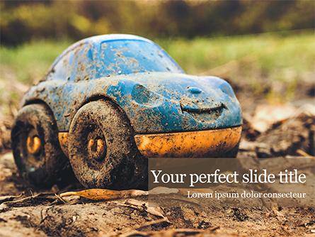 Toy Car in Mud Presentation Presentation Template, Master Slide