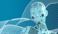 3D Rendering of a Female Robot Presentation Presentation Template