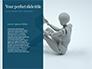 3D Rendering of a Female Robot Presentation slide 9