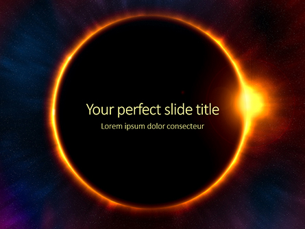 The Moon Covers the Sun in a Beautiful Solar Eclipse Presentation Presentation Template, Master Slide