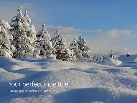 Amazing Winter Landscape Presentation Presentation Template, Master Slide
