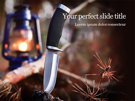 Hunting Knife and Kerosene Lamp Presentation Presentation Template, Master Slide