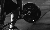 Closeup of Hands of Powerlifter on Barbell Presentation Presentation Template