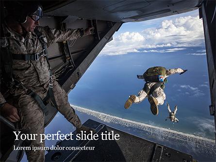 Military Parachute Training Presentation Presentation Template, Master Slide
