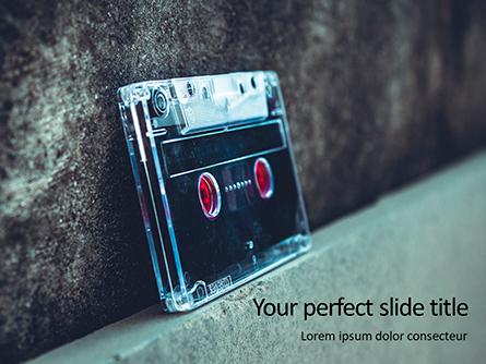Cassette Tape Presentation Presentation Template, Master Slide