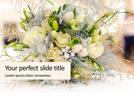 Beautiful Wedding Bouquet of Flowers of the Bride Presentation Presentation Template, Master Slide