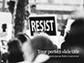 A Protester Raised Banner with Resist Caption Presentation slide 1