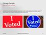 I Voted Sticker on a Man's Finger Presentation slide 11