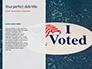 I Voted Sticker on a Man's Finger Presentation slide 9