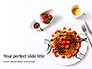 Belgium Waffles with Chocolate Sauce and Strawberries Presentation slide 1