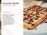 Belgium Waffles with Chocolate Sauce and Strawberries Presentation slide 9