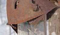 Rusty Military Helmet Presentation Presentation Template