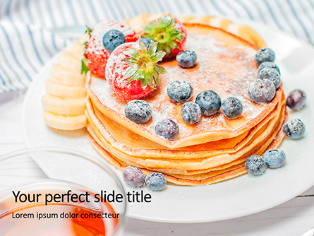 Homemade Pancakes with Berries Presentation Presentation Template, Master Slide