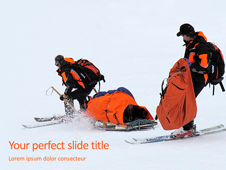 Rescue Sled in the Snow Presentation Presentation Template, Master Slide