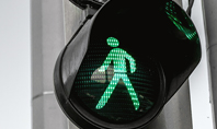 Green Pedestrian Traffic Light Presentation Presentation Template