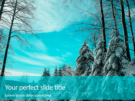 Landscape with Snowy Trees Presentation Presentation Template, Master Slide