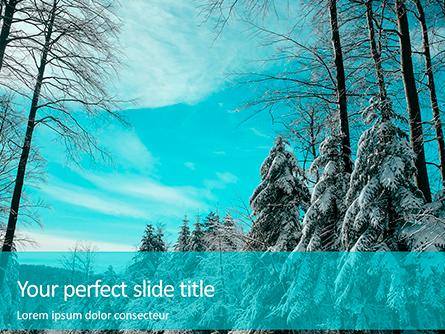 Landscape with Snowy Trees Presentation Presentation Template, Master Slide