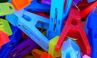 Multi-Colored Plastic Clothespins Presentation Presentation Template