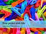 Multi-Colored Plastic Clothespins Presentation slide 1