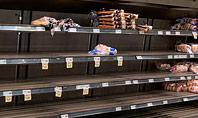 Shelf at a Supermarket Mostly Empty Presentation Presentation Template