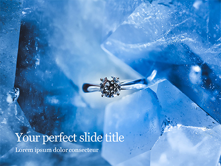 Ring with Diamond in Ice Presentation Presentation Template, Master Slide