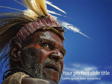 Indigenous Man Presentation Presentation Template, Master Slide