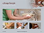 A Person Washing Hands with Soap Presentation slide 13