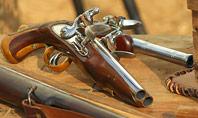 Old Wooden Guns and Pistols Presentation Presentation Template