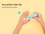Female Hand Holding Cream Tube Presentation slide 1